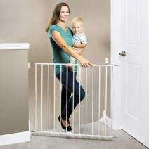 "Toddleroo by North States 40.55"" Wide Essential Stairway & Walkway Baby Gate: Ideal for Standard stairways. Hardware Mount. Fits Openings 24.5"" - 40.55"" Wide (30"" Tall, White)"