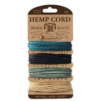 Hemptique Hemp Cord 4 Color Cards - Made with Love - Crafter's No. 1 Choice – Eco Friendly – Plant Hanger - Scrapbooking – Gardening – Macramé – Home Décor (Camo Pack)