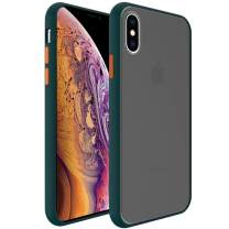 InUnion Protective Case for iPhone X and Xs case with PC Back and Soft TPU Bumper Compatible with iPhone X and Xs 5.8 Inch - Pine