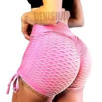 Denishark Sports Booty Shorts for Women High Waisted Bubble Textured Scrunch Butt Lifting Gym Workout Hot Pants