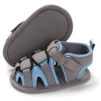 E-FAK Baby Boy Sandals Summer Outdoor Beach Anti-Slip Rubber Soft Sole Infant Girls Toddler First Walker Shoes