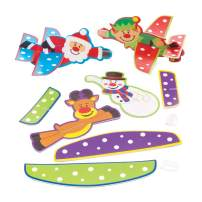 Baker Ross Festive Friends Gliders, Christmas Arts and Crafts (Pack of 8)