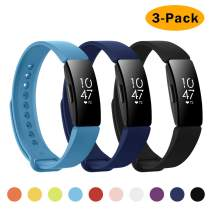 NANW 3-Pack Compatible with Fitbit Inspire HR Bands/Fitbit Inspire Band, Adjustable Soft Silicone Inspire Straps for Women Men Sports Replacement Accessories Bands for Inspire/Inspire HR