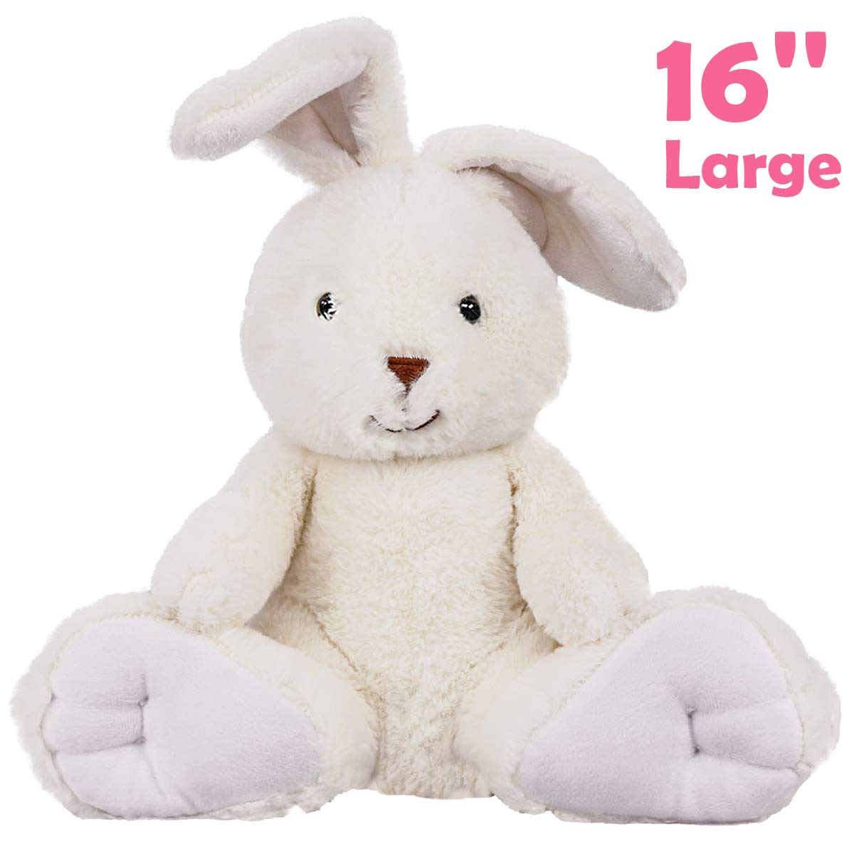Ivenf Easter Bunny Stuffed Animal 16'' Tall, Large Plush Rabbit Baby Toy for Boys Girls Kids, Easter Decorations Basket Stuffers Gifts