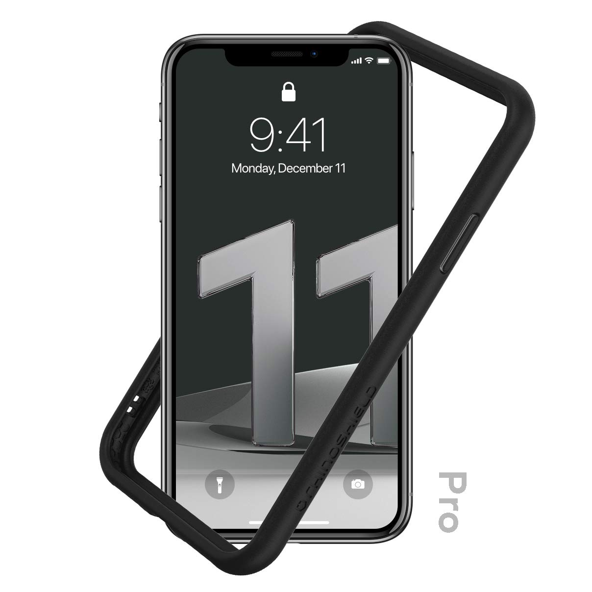 RhinoShield Bumper Case Compatible with [iPhone 11 Pro]   CrashGuard NX - Shock Absorbent Slim Design Protective Cover 3.5M / 11ft Drop Protection - Black