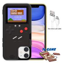 YLANK Gameboy Case for iPhone, Retro 3D Gameboy Design Style Silicone Cover Case with 36 Classic Retro Games,Color Screen Game Cover Case for iPhone 11/X/Xmax/6/6S/7/8/Plus (Black, iPhone 11)