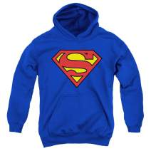 Popfunk Superman Logo S Shield Kids Youth Pullover Hoodie & Stickers