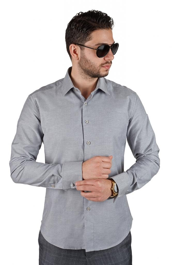 AZAR MAN New Men's French Cuff Tailored Slim Fit Spread Collar Dress Shirts