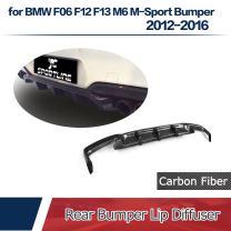 JC SPORTLINE fits BMW 6 Series F06 F12 F13 M6 640i 650i M Sport Coupe Convertible 2-Door 2012-2018 Carbon Fiber Rear Bumper Lip Diffuser