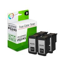 TCT Compatible Ink Cartridge Replacement for Canon PG-245 PG245 Black Works with Canon Pixma MG2420 MG2520 MG2555 MG2920 MG2922 MG3020 iP2820 MX490 MX492 Printers - 4 Pack