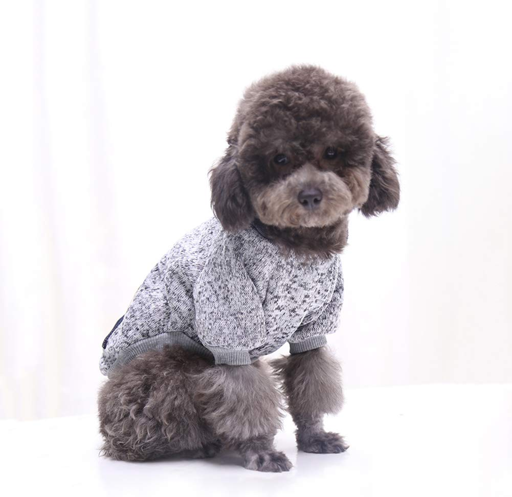 Dog Hoodie Pet Clothing - Dog Cotton Woolen Sweatshirt with Pockets Fashion Outfit for Small Dogs & Cat
