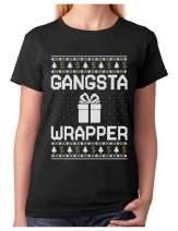 Tstars - Gangsta Wrapper Funny Ugly Christmas Sweater Women T-Shirt