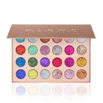 Pressed Glitter Eyeshadow Palette (24 Colors) - Highly Pigmented, Shimmery - Waterproof & Long-Lasting