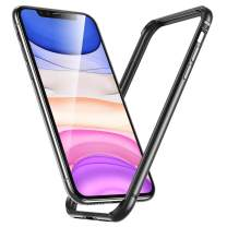 """ESR Bumper Case Compatible for iPhone 11, iPhone XR, Metal Frame Armor with Soft Inner Bumper [Zero Signal Interference] [Raised Edge Protection] for iPhone 11/XR 6.1""""(2019), Space Gray"""