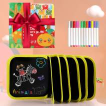 Erasable Drawing Pad Toys(Bear)-Best Children's Day Gift, Road Trip Car Travel Airplane Activities Game, Magna Reuse Portable Writing Board for Kids Toddlers Boys Girls Gift Age 2 3 4 5 6 7 8 Year Old