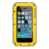 Case for iPhone SE2, iPhone 7 8 Case 4.7 Inch LIGHTDESIRE Aluminum Alloy Protective Metal Extreme Water Resistant Shocumper Heavy Duty Cover Shell - Yellow