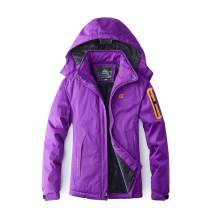 Facecozy Women's Winter Hooded Breathable Outdoor Coat Hiking Windbreaker Waterproof Rain Skiing Jacket