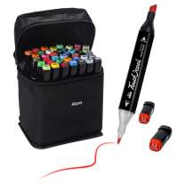 40 Colors Ciaoed Marker Pens,Art Markers Set,Dual Tip Markers Pens with Fine Tip,Alcohol Based Art Markers,Marker Pens with Carrying Case for Drawing Sketching Adult and Kid.