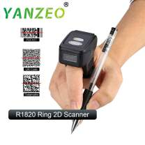Yanzeo Portable Wearable Ring R1820 2.4G 1D/2D Mini Bar Code Scanner Bluetooth 380mA Battery Compatible for iOS/Android