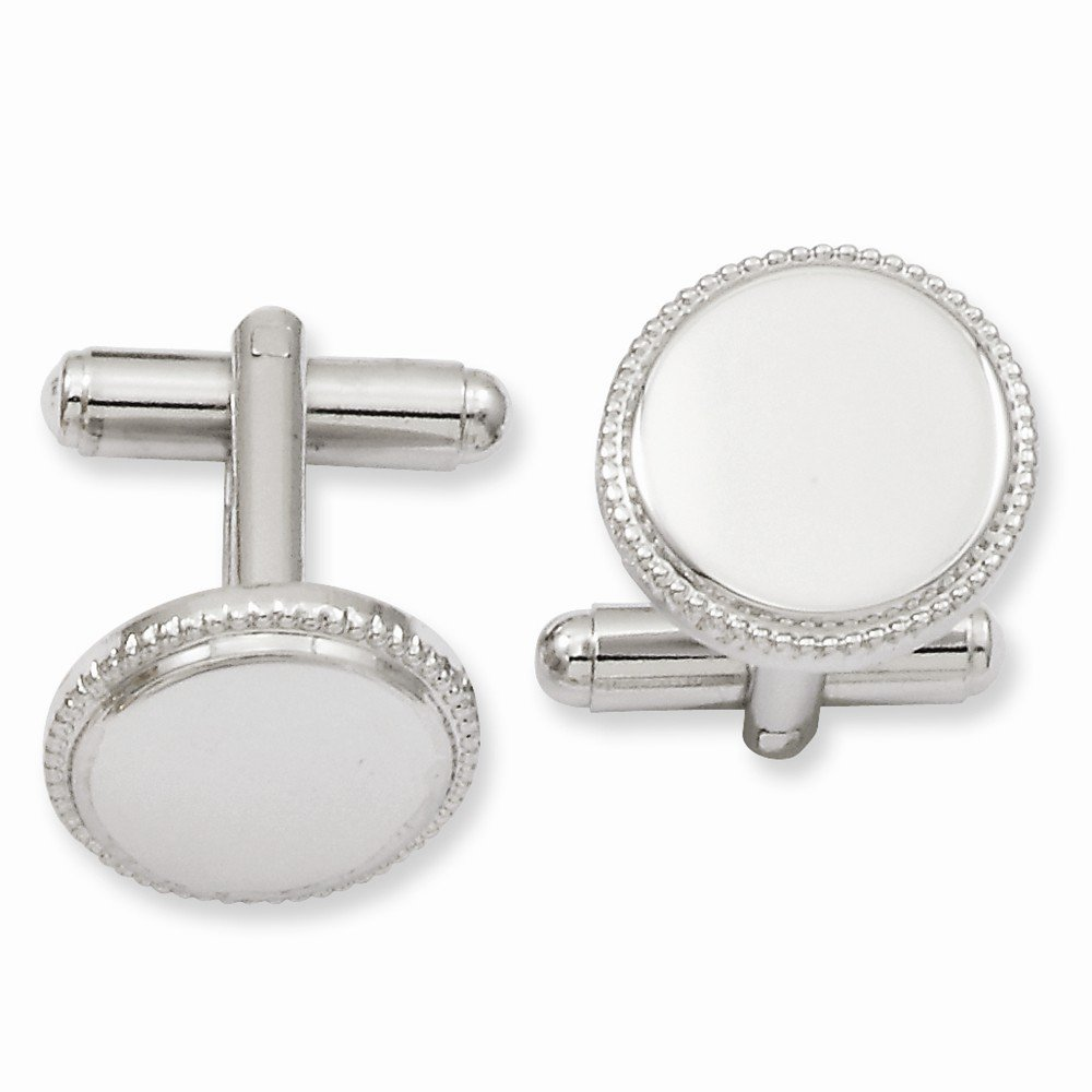 ICE CARATS Kelly Waters Beaded Round Cuff Links Mens Cufflinks Man Link Water Fashion Jewelry for Dad Mens Gifts for Him