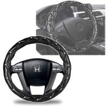 Leather Bling Steering Wheel Cover- Zento Deals Bling Rhinestone Wheel Cover with Crystal Diamond PU