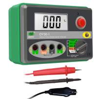 Digital Insulation Resistance Tester Resistance&Voltage Test Multimeter 0.01MΩ~2000M Ohm Megohmmeter DC250V/500V/1000V AC600V Multimeter with Rotary Switch,Data Hold Button,LCD Display,Handbag,Alarm