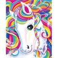 TOCARE DIY 5D Diamond Painting by Numbers Kits for Kids Adults Beginner Full Drill Paint with Diamonds Home Wall Art Decor,Colorful Horse Unicorn 12x16inches/30x40cm(Canvas Size)