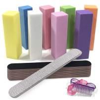 Nail File and Buffer Professional DIY Manicure Tools Kit 8pcs Art Care Buffer Block 8pcs 100/180 Grit Nail Files 20pcs