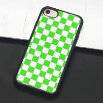 Checkerboard Phone Case for iPhone 11 Pro Max XS Max XR X 8 Plus 7 Plus 8 7 6 6s 5s 5 se Hard Cover Grid Lattice Plaid Tartan Damier House Checkerboard Chessboard Checker Flag (iPhone XR,8)