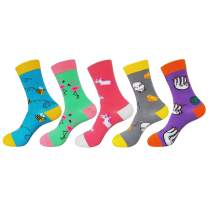 Sexybody Novelty Funny Dress Crew Socks Colorful Animal Food Cotton Socks for Men Women