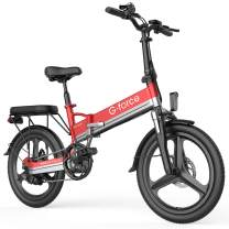 """G-Force Electric Bike T13, Electric Bikes for Adults 20"""" Folding Ebike,350W Motor,Max Speed 20MPH Adults Ebike with Removable Battery(48V 10.4A),Max Range 30Miles."""