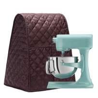 Large Size Stand Mixer Cover, Dustproof 4.5-6 Quart Kitchen Aid Organizer Bag, Mixer Covers Fits All Tilt Head & Bowl Lift Models for Kitchen Aid, Sunbeam, Cuisinart, Hamilton Beach Mixers (Coffee)