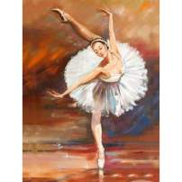 SKRYUIE 5D Full Drill Diamond Painting Ballet Dancer Painting by Number Kits, Paint with Diamonds Arts Embroidery DIY Craft Set Arts Decorations (12x16 inch)