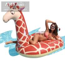 AirMyFun Inflatable Giant Giraffe Pool Float, Inflatable Toys with Durable Handles, Hold Animal Water Park for Enjoying Summer Fun