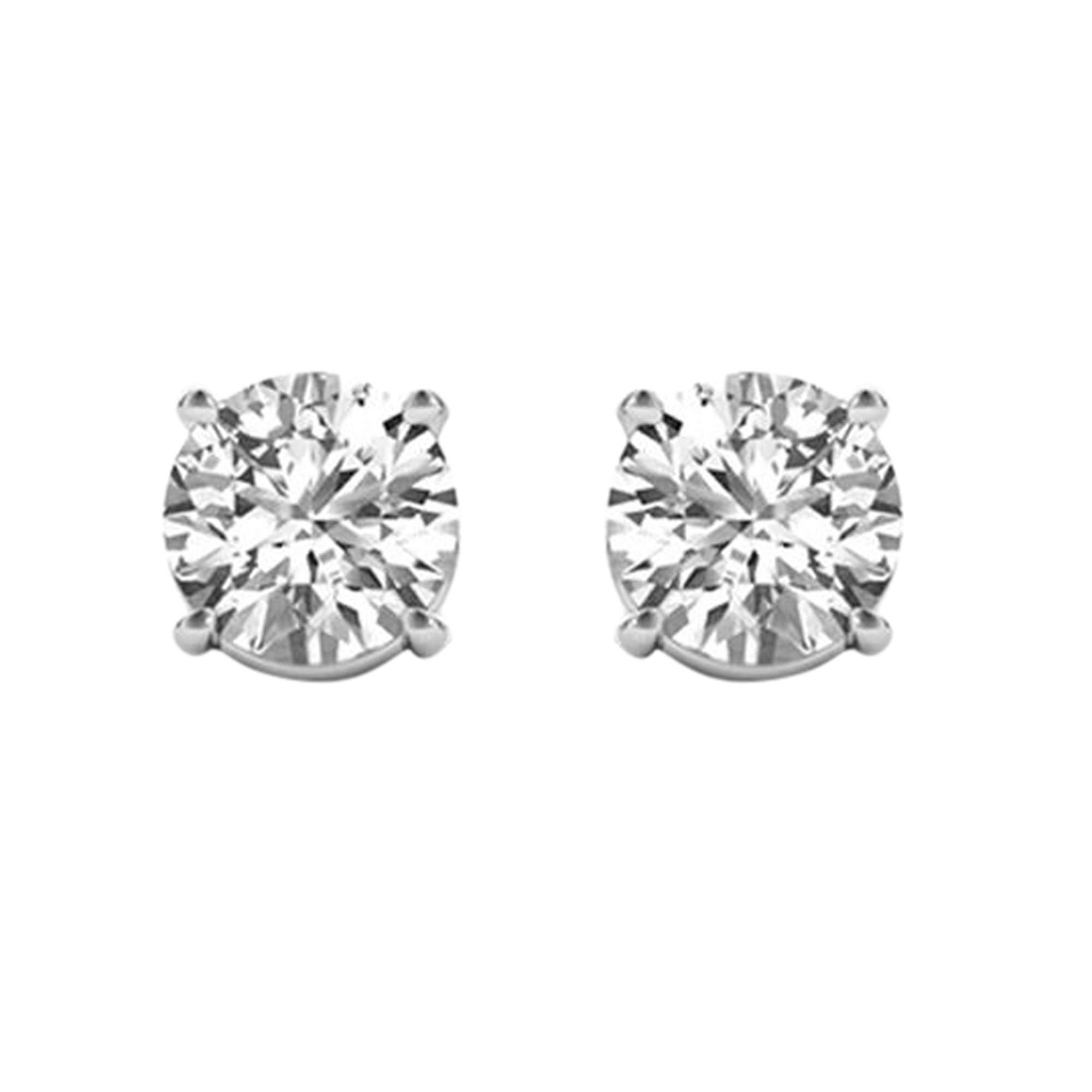 1ct Diamond Stud Earrings for Women in 14K Gold, (Clarity I2I3)