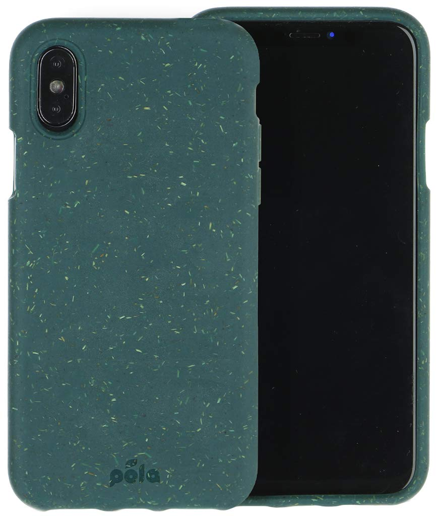 Pela: Phone Case for iPhone Xs- 100% Compostable and Biodegradable - Eco-Friendly - Made from Plants (XS Green)