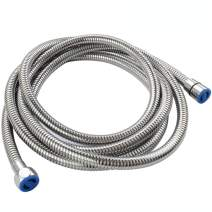 """Extra Long Shower Head Hose 118"""", Angle Simple Stainless Steel Flexible Handheld Shower Hose, Shower Sprayer Hose No Tangles, Shower Hose Replacement 1/2"""" IPS, Shower Extension Hose Chrome"""