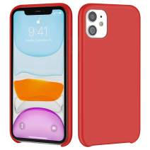 iMangoo iPhone 11 Case, Liquid Silicone Case for iPhone 11 6.1 inch Soft Microfiber Lining Cover Anti-Slip Gel Rubber Coating Protective Phone Case Shockproof Armor Protection Slim Shell Red