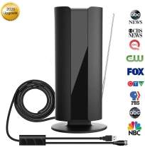 Digital HD TV Antenna Indoor, CIYOYO 2020 Amplified HDTV Antennas 160 Miles Long Range Powerful Signal Wave Booster Amplifier Support 4K 1080P HD Freeview UHF VHF Local Channels 15ft Cable (Medium)