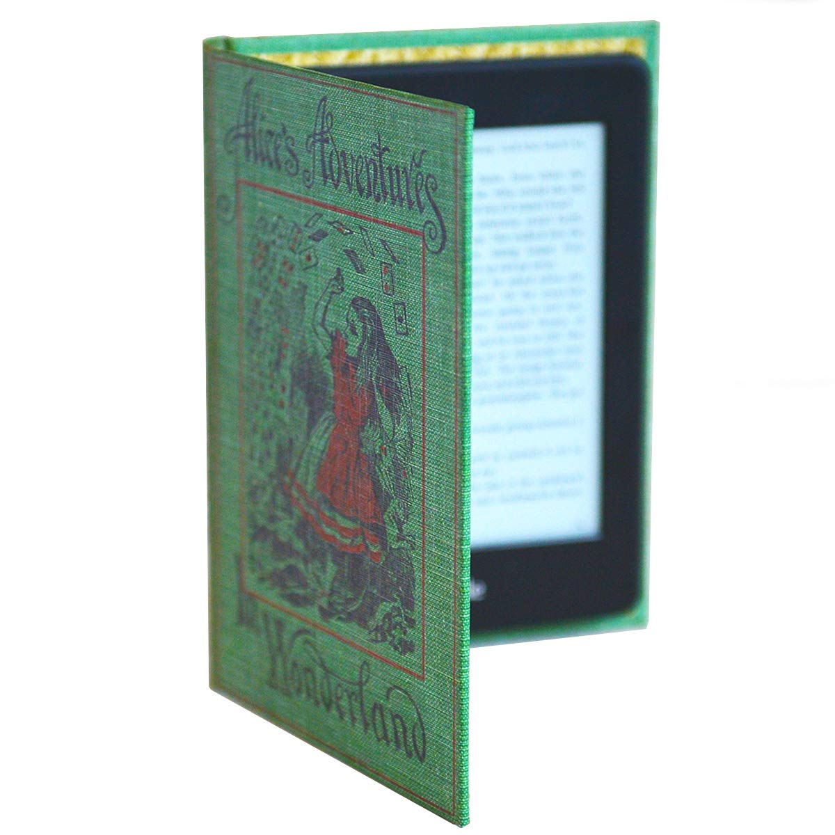 Kindle Paperwhite Case (All Versions Including 2018 Waterproof Model) Book Cover Style (New Alice in Wonderland)
