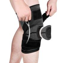 Fyore Knee Brace Compression Sleeve,Knee Braces for Men & Women with Side Stabilizers & Patella Gel Pads & Straps for Knee Support.Knee Sleeves for Meniscus Tear,Arthritis,Pain Relief,More Sports