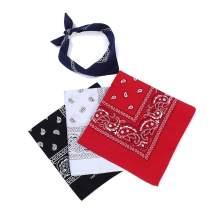 Aoboiepye Bandana with 100% cotton double sided print paisley bandanas head wrap scarf