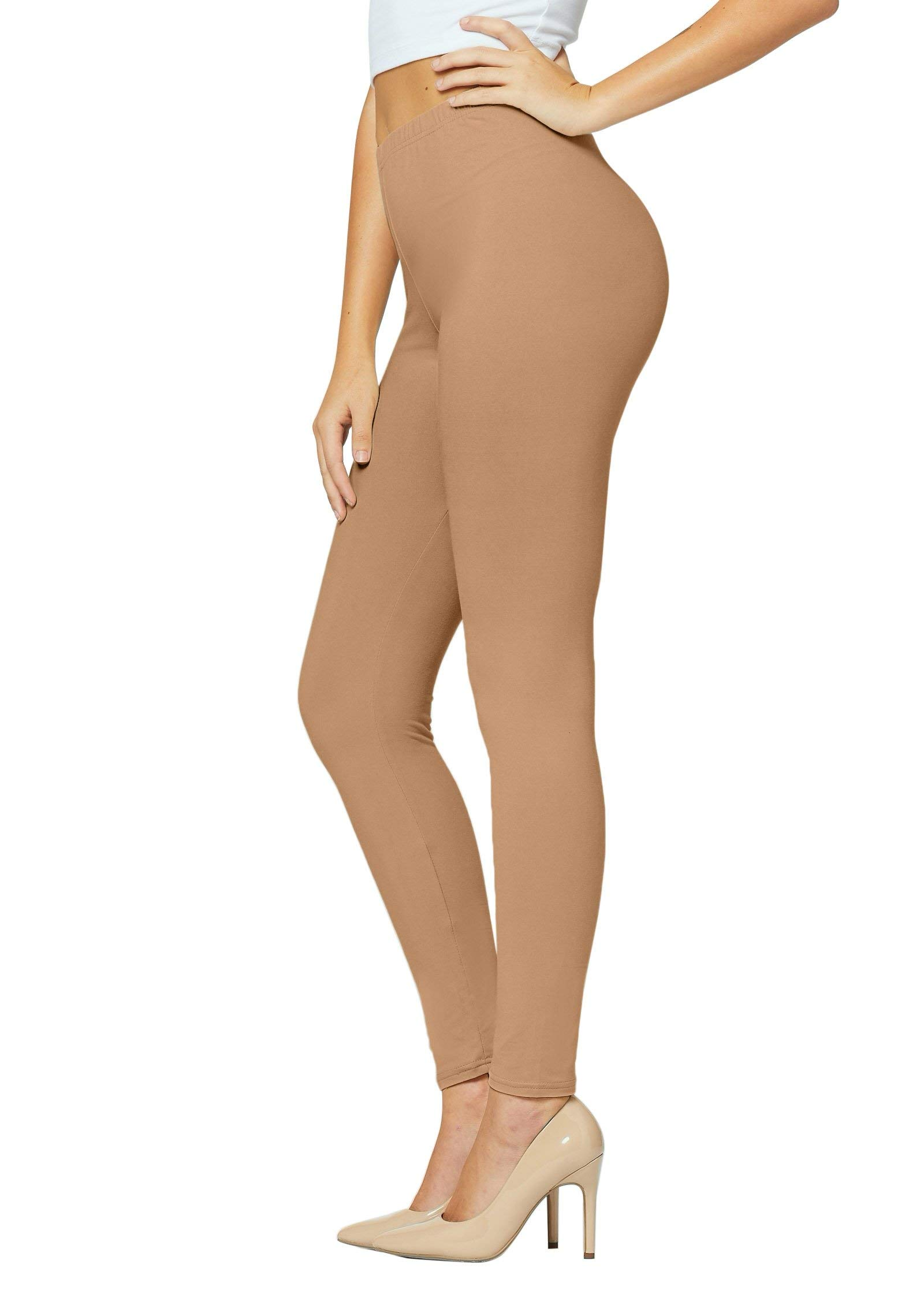 Premium Ultra Soft Leggings for Women in 25 Colors - Full & Capri Length - Reg and Plus Size