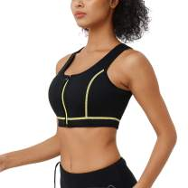 CtriLady Women's High Impact Neoprene Wetsuit Crop Tank Top Full Cup Sport Bra Vest for Surfing Snorkeling Paddling Fitness