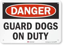"""""""Danger - Guard Dogs On Duty"""" Sign By SmartSign 