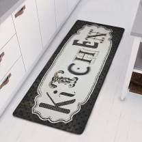 "HEBE Runner Rug for Kitchen Floor Laundry Room Non Slip Natural Rubber Waterproof Vintage Cushioned Kitchen Rug Floor Mat Rug Inside Entrance Doormat Runner Carpet, 20""x48"""