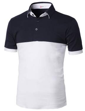 H2H Mens Casual Slim Fit Polo T-Shirts of Various Styles and Designed