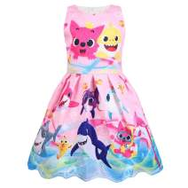 Toddler Girls Casual Dresses Sleeveless Party Dress 1-6 Years