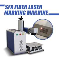 50W Fiber Laser Marking Machine,Portable Mini Optical Engraver Machine Barcodes,Serial Numbers,Text,Vector,Logos.(175×175mm (6.9×6.9in))
