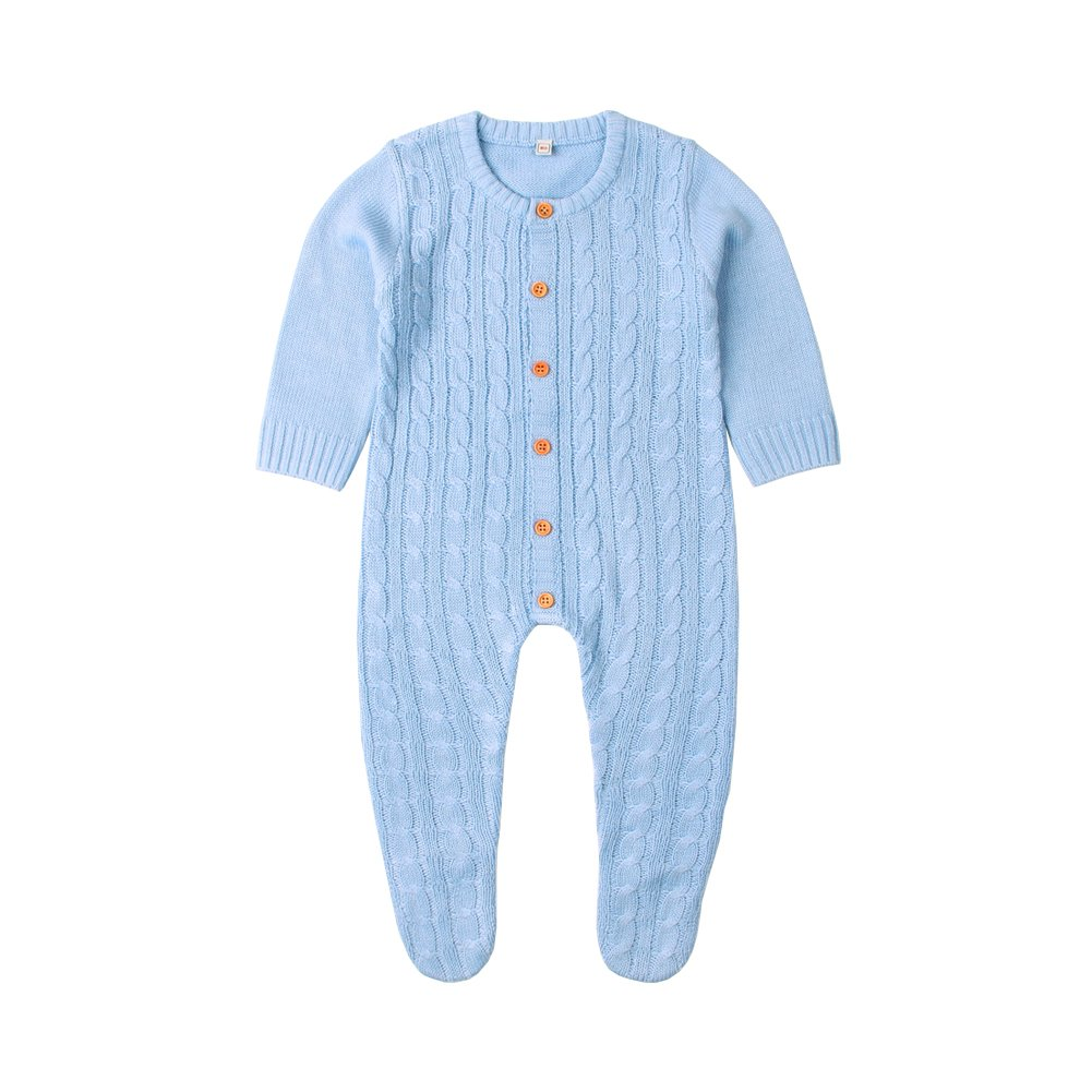 mimixiong Baby Boy Romper Toddler Girl Knit Footies Jumpsuit